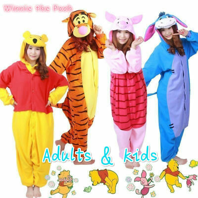 Hot Disney Winnie The Poot Adult Costume Kigurumi Pajamas Cosplay  Onesie1 New