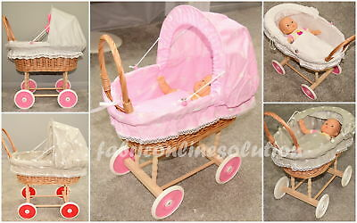 Doll Wicker Buggy /Pram / Dolls Buggy/Pram/ Stroller/Natural wicker