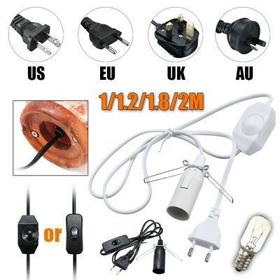 Himalayan Electric Power Dimmer ON/OFF Cord Black White / 15W/25W E14 Bulb NEW