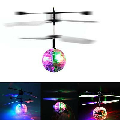 Electric RC Flying Ball Infrared Induction Aircraft LED Flash Light Kids Toy TQ