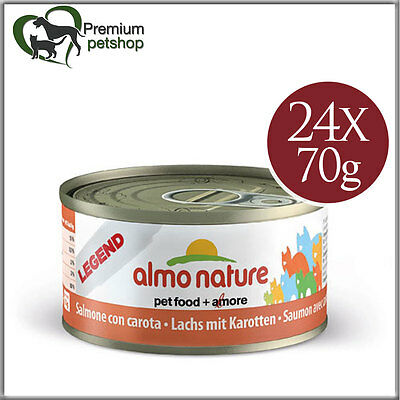 Almo Nature Legend Cat Food Salmon with Carrot 70g Wet Food for Cats