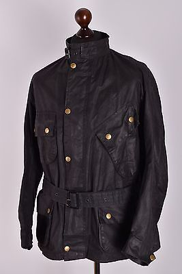 Men's Barbour International Waxed Jacket Size C40 / 102cm Genuine Casual