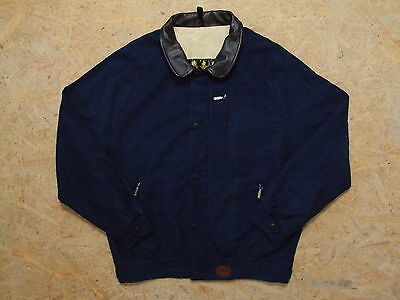 Men's Barbour Moleskin Blouson Harrington Jacket Size L Genuine Mint Casual