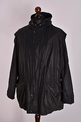 Men's Barbou Lined Durham Jacket Size C46 / 117cm Genuine Casual Waxed