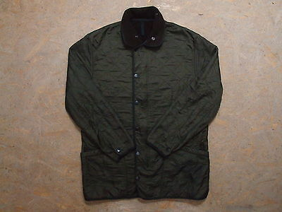 Men's Barbour Polarquilt Green Jacket Size L Genuine Mint