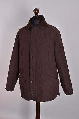Men's Barbour Microfibre Polarquilt Quilt Jacket Size L Genuine Casual