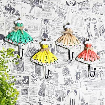 Lady Dress Design Metal Iron Hooks Clothes Towel Coat Hanger Wall Door Mounted