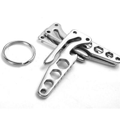 Outdoor Multi Tool EDC Pocket Bottle Opener Screwdriver Wrench Keychain Camping