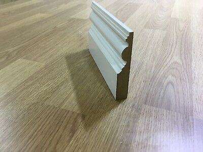 Mdf Skirting Boards White Primed Victorian 18Mm X 70Mm X 4200Mm