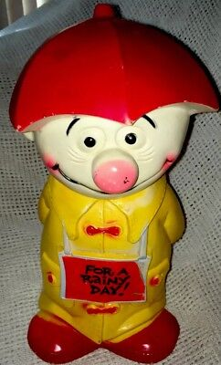 1971 Plastic Play Pal Piggy Bank.  The Happy Clown