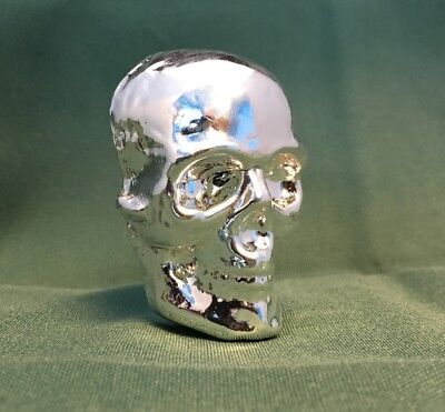 "1/2 Kilo YPS 3D 999 Fine Solid Silver SKULL ""Yeager's Poured Silver"" Hand poured"