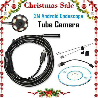 Endoscope 5.5mm Inspection Camera For Android Laptop Borescope Waterproof 6 LED