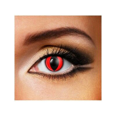 Lentilles de contact couleur Oeil de chat rouge F53 - red cat eye fancy lens