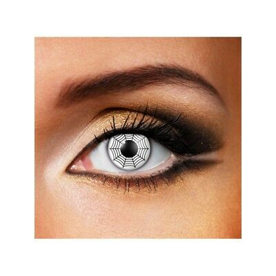Lentilles de contact couleur Spider blanc - white spider contact lensF13