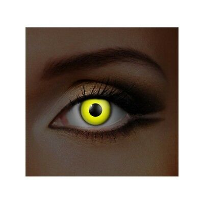 lentilles de contact couleur fluorescentes jaune -  glow in the dark fancy lens