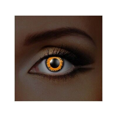 lentilles de contact couleur fluorescentes twilight bella glow in the dark lens