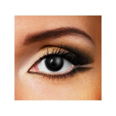Lentilles de contact couleur 24H noir - daily black color contact lenses