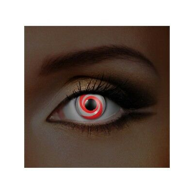 Lentilles de contact couleur Spirale rouge - red swirl color contact lens F75