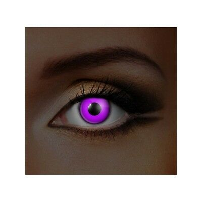 lentilles de contact couleur fluorescentes violettes glow in the dark color lens