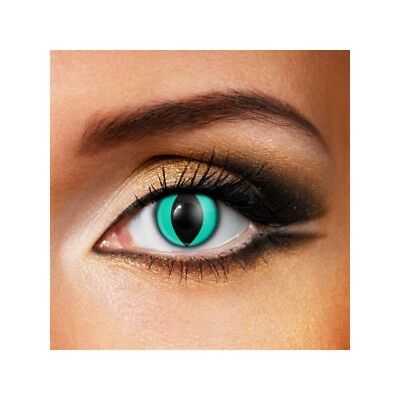 Lentilles de contact couleur oeil de chat eau - aqua cat fancy lens