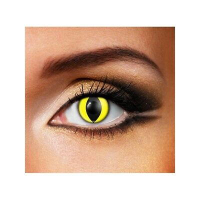 Lentilles de contact couleur Oeil de chat jaune F26 - yellow cat eye fancy lens