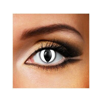 Lentilles de contact couleur Oeil de chat blanc - white cat eye fancy lens F72