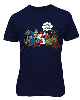 Jesus And Superheroes DC Thats How I Saved The World Christian Funny T-Shirt