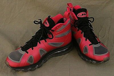 NIKE AIR MAX Size 7Y GRIFFEY FURY GS Girls Pink Black Gray High Top Sneakers