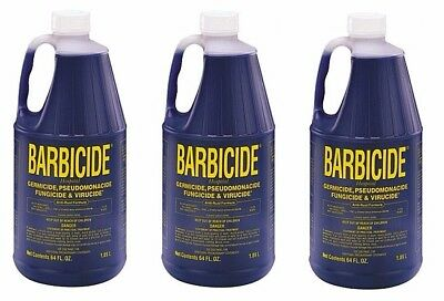 3 x Barbicide Disinfectant Concentrate Solution Anti-Rust Formula 1.89 Litres