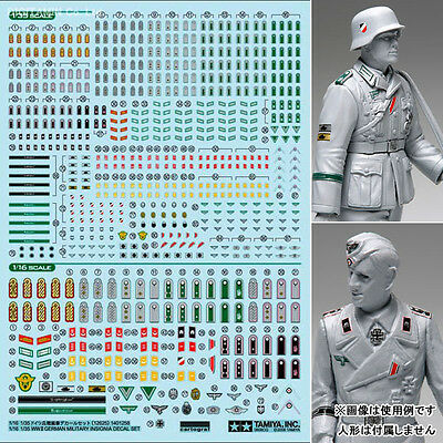 Tamiya 12625 1/16 & 1/35 GERMAN MILITARY INSIGNIA DECAL SET f/ Figures fromJapan
