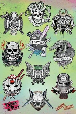 Suicide Squad Tattoo Parlor Poster 61x91.5cm