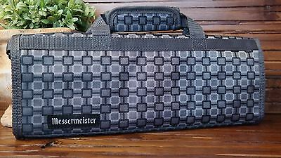 MESSERMEISTER Padded 6 Slot Knife Roll 15in. x 6in. x 1in. GRAY Carry Case