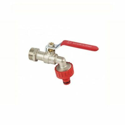 Bibcock Water Ball Valve With Compression Nut And Garden Connector 1/2,3/4