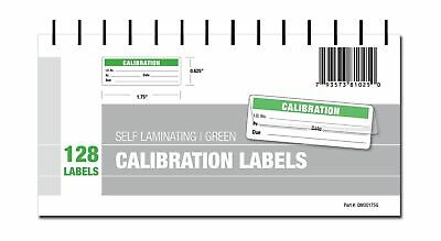 Calibration Labels - Self Laminating with Spiral Bound Cover (Green) Green