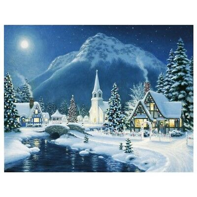 Snow Night 5D Diamond Painting Embroidery DIY Wall Decor R1T3