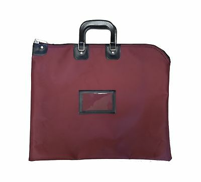 Locking Document HIPAA Bag 16 x 20 with Handles (Burgundy) Burgundy