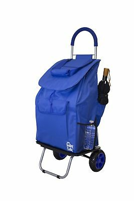 Bigger Trolley Dolly Blue Shopping Grocery Foldable Cart - NEW FREE SHIPPING
