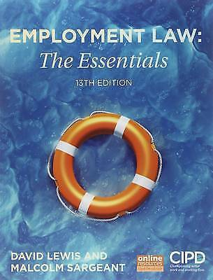 Employment Law: The Essentials by David Lewis, Malcolm Sargeant (Paperback, 201…