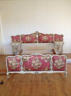 Beautiful Vintage Hand Painted Shabby Chic French Queen Bed