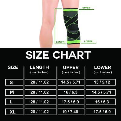 New S/M/L/XL 3D Weaving Knee Brace Protective Support Cycling Hiking Sport Pad
