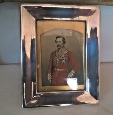 Antique Swedish Solid Silver Picture Frame With King Gustaf By C.g Hallberg-1919