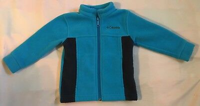 Columbia Toddler Boys'/Girls Fleece Full Zip Jacket ~ 18-24 Months ~ Blue