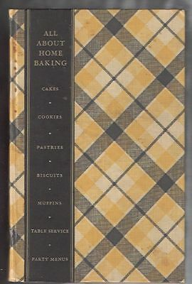 1933 All About Home Baking General Foods Cookbook