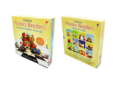 Usborne Phonics Young Readers 12 Picture Books Box Set Paperback
