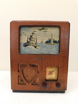Vintage Old World War 2 Legendary Radio-Vision Antique Motion Lamp Ny Harbor