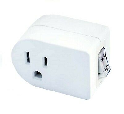 2pc UL WALL TAP SWITCH Outlet Plug Turn On/Off Power Without Unplugging Cords