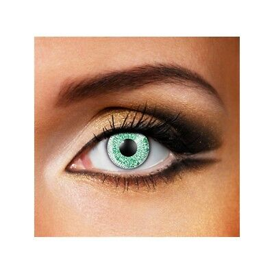 Lentilles de contact couleur 1 ton vert - one tone green contact color lenses
