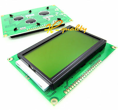 5PCS ST7920 5V 12864 128x64 Dots Graphic LCD Yellow/green/Backlight for EasyPIC5