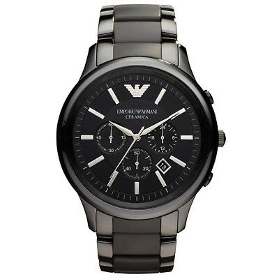 *new* Emporio Armani Ar1451 Black Ceramic Matte Men's Watch - Rrp £399.00