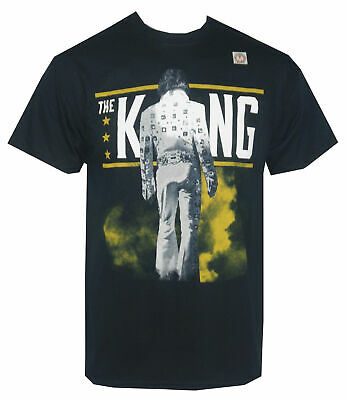 Authentic ELVIS PRESLEY The King From Behind Photo Logo T-Shirt S-2XL NEW